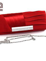 Handcee® Hot Selling Elegance Design Woman Satin Evening Bag/Simple Graceful Lady Clutch Bag