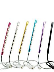 10 led verlichting laptop usb geleid nachtlampje toetsenbord nachtlampje flexibele oogverzorging licht