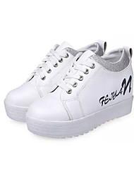 DONNE - Sneakers alla moda - Comfort/Punta tonda - Tacco basso Similpelle - Nero/Rosa/Bianco