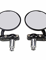 "Pair Universal 7/8"" Motorcycle Mirrors Black Motobike Rear View Side for Suzuki"