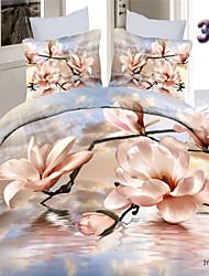 Shuian® 100% Cotton 3D Printed High-Density Bedding Set Bed Linen and Comforter Duvet Cover Flat Sheet Pillowcase