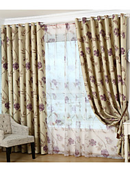 Country Curtains® One Panel Purple Floral Blackout Curtain