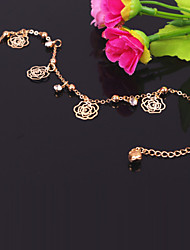 Fashion Metal Roses Anklets