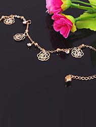 rosas de metal moda tobilleras