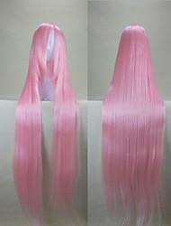 Mode Cosplay Perücke rosa Kunsthaar Frau lange gerade Perücken animierte Cartoon Perücken volle Perücke-Partei-Perücke