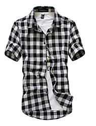 Hugo n's Casual Round Short Sleeve Casual Shirts