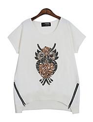 Katoen Vrouwen - T-shirt - Korte mouw