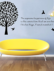 Wall Stickers Wall Decals, Style Europe and The United States English Words Proverbs & Quotes PVC Wall Stickers
