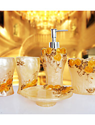 The Rosary Pattern Bathroom Ware 5 Sets/Champagne