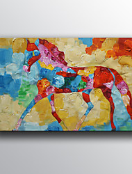 Animal Oil Painting Hand-Painted Canvas Wall Art One Panel Ready to Hang