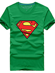 Man couple with the summer short sleeve T-shirt superman # 045