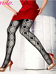 Women New Hot Sexy Black Fishnet Pantyhose Ladies Stockings Tights Sheer for girls Rhombus Pattern Free shipping
