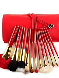 MSQ® 12pcs Makeup Brushes set Pony/Goat/Horse/Wool Hair Red Light Blush brush Shadow Brush Lip Brush Brow/Liner Brush Makeup Kit Cosmetic Brushes