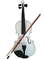 Student Acoustic Violin Full 1/8 Maple Spruce with Case Bow Rosin White Color