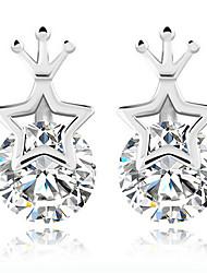 KIKI 925 Star crown Silver Earrings