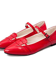 Women's Shoes Flat Heel Pointed Toe Flats Dress Black/Red/White