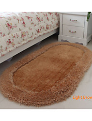 Oval Casual Silk  70cm*140cm  Sofa Table Bedroom  Carpet  Bath Rugs