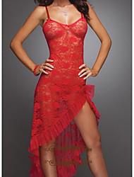 Women's Hollow Out Flower Lace Max Nightwear