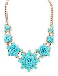 Women's European Style Fashion Fresh Flowers Sweet necklace