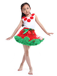 Performance Outfits Women's Performance/Training Chiffon/Cotton Fuchsia Kids Dance Costumes