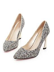 Women's Shoes Glitter Stiletto Heel Heels/Pointed Toe Pumps/Heels Dress Blue/White/Gold