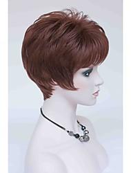 New Elegant Reddish Auburn Short Straight Women's Synthetic Wig