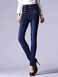 Women's Fashion High Waist Denim Pencil Long Pants