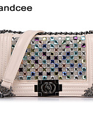 Handcee® Women Casual PU Crossbody Bag Vintage Style Luxury Shining Shoulder Bag