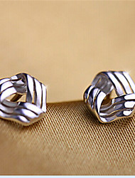 Earring Stud Earrings Jewelry Women Party / Daily / Casual Silver / Sterling Silver 2pcs Silver