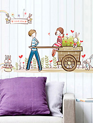 Wall Stickers Wall Decals, Floats Couples PVC Wall Stickers