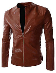 Men's Fashion Leisure Leather Coat