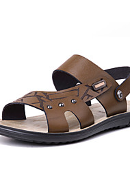 Men's Shoes Outdoor/Casual Leather Sandals Blue/Brown/Burgundy