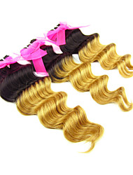 "3Pcs/Lot ,12""-24""Peruvian Virgin Hair,Ombre Hair Extensions 1B/27, Deep Wave , Hot Sale."