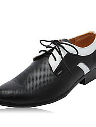 Men's Shoes Wedding/Office & Career/Party & Evening Leather Oxfords Black/White
