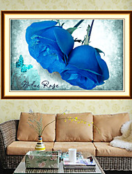 The New Cube Diamond Paste Painting DIY BLUELOVER Stitch Roses Painting Bedrooms Restaurant Series