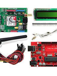 Geeetech SIMCOM SIM900 Quad-Band GPRS GSM Development Board Iduino UNO LCD1602