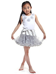 Performance Outfits Women's Performance/Training Chiffon/Cotton Gray Kids Dance Costumes