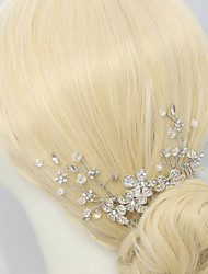 Women's / Flower Girl's Rhinestone / Crystal / Alloy Headpiece-Wedding / Special Occasion Hair Combs 1 Piece Clear