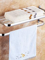 Держатель для полотенец / Полка для ванной / Полотенцесушитель Хром Крепление на стену 69*29.5*9.5cm(27.2*11.6*3.7inch) Нержавеющая сталь