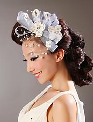Women Satin Flowers With Imitation Pearl/Rhinestone Wedding/Party Headpiece