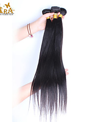 3pcs Lot  8-26 Inch Unprocessed Peruvian Virgin Hair Natural Black Color Silk Straight Human Hair Weave