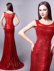 Formal Evening Dress - Ruby Plus Sizes Trumpet/Mermaid Scoop Sweep/Brush Train Sequined