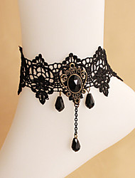 Accessories Black Lace anklet