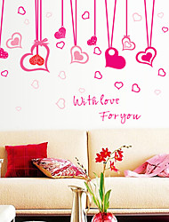 adesivos de parede decalques da parede, o amor romântico com você pvc adesivos de parede