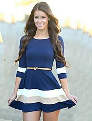 CYAY Women's Fashion Charm 2/3 Sleeve Bodycon Dress(without belt)