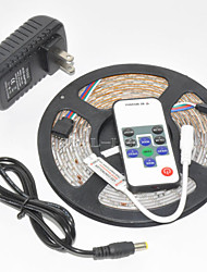 Waterproof  5M 300X3528 SMD RGB LED Strip Light and 10Key RF Controller and 3A UK Power Supply (AC110-240V)