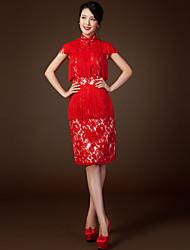 Vestito - Rosso Cocktail Tubino Lupetto Cocktail Taffettà di nylon
