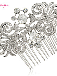 Neoglory Jewelry Hair Comb Tiara with Round Rhinestone for Lady/Bridal/Wedding/Daily/Pageant