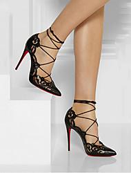 Stiletto - 10-12cm - Damenschuhe - Pumps/Heels ( PU , Schwarz/Mandelfarben )