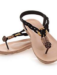 Lasey Women's Shoes Black/Coffee/Almond Flat Heel 0-3cm Sandals (Canvas)